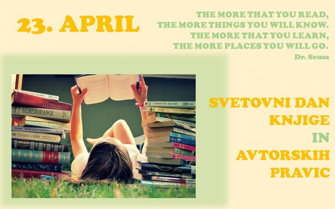 23. april je svetovni dan knjige